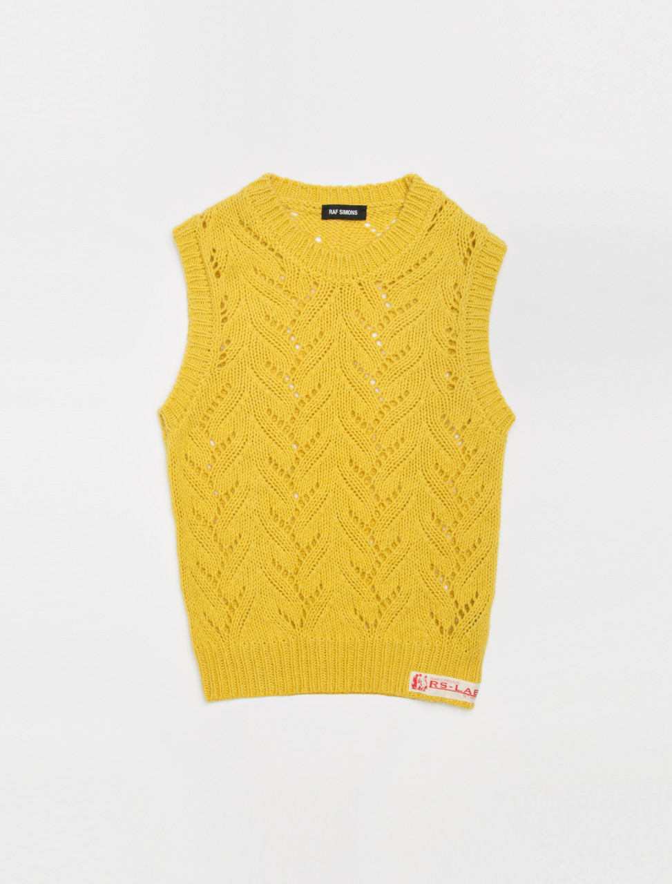 Sleeveless Gilet with Woven Label