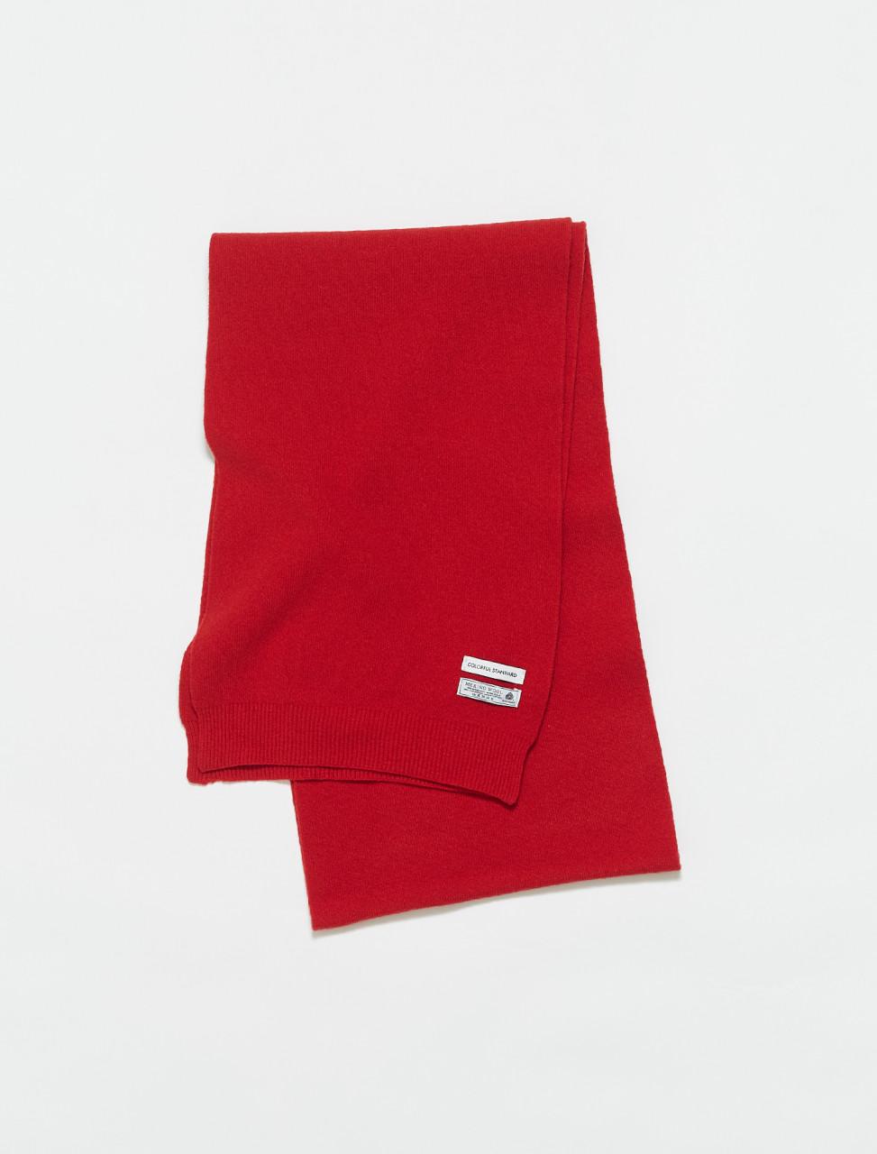 307-CS5082SR COLORFUL STANDARD MERINO WOOL SCARF SCARLET RED