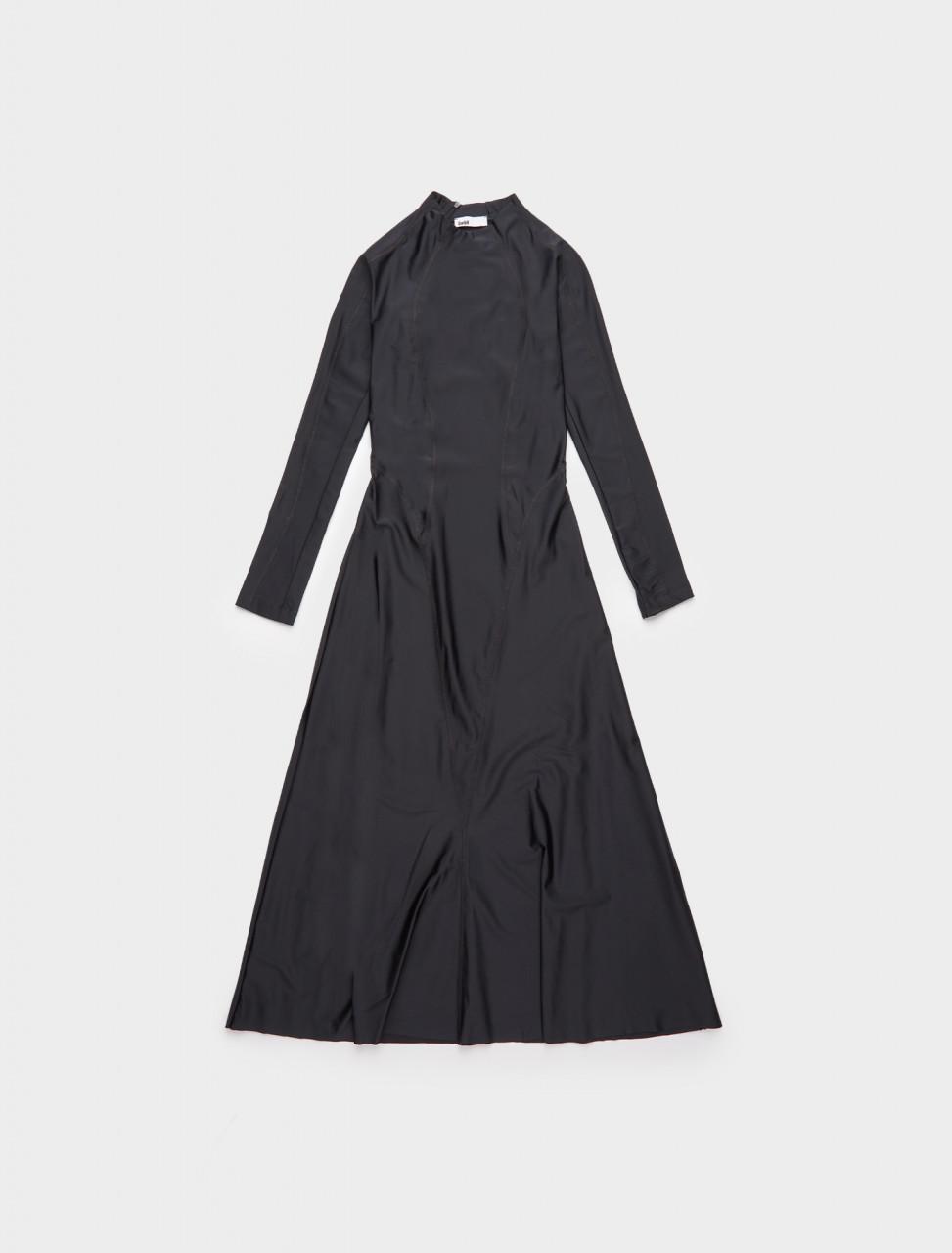 226-ELIF-AW20 GMBH ELIF LONG SLEEVE DRESS BLACK WHITE