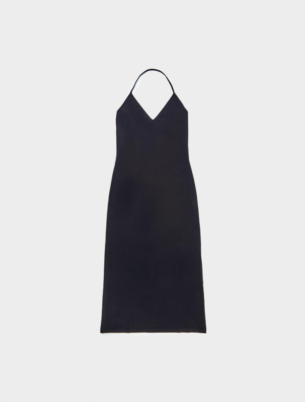 Front view of Jil Sander Under Layer Dress in Black