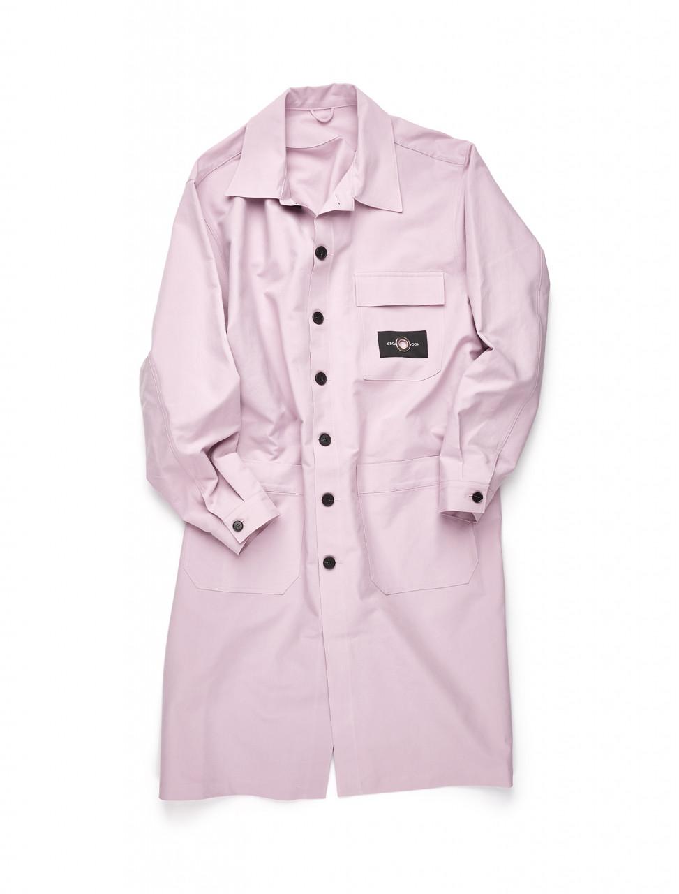 351-SWAW20-002 SEOKWOON YOON PINK LONG COAT