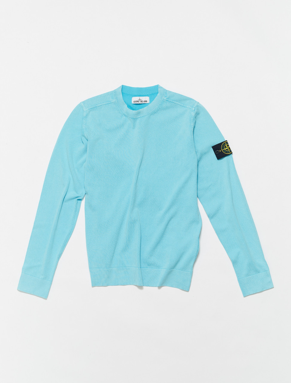 MO7415554D9-V0042 STONE ISLAND KNIT SWEATER IN TURCHESE