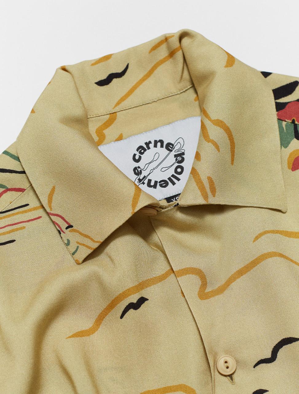 Carne Bollente Hawaiian Squirt Shirt in Beige   Voo Store
