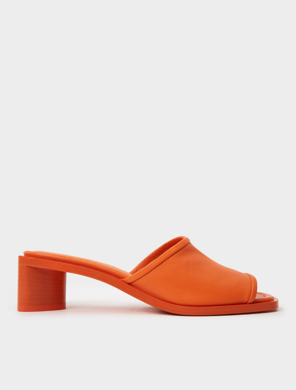 AD0349-AVZ ACNE STUDIOS SLIP ON HEELS ORANGE