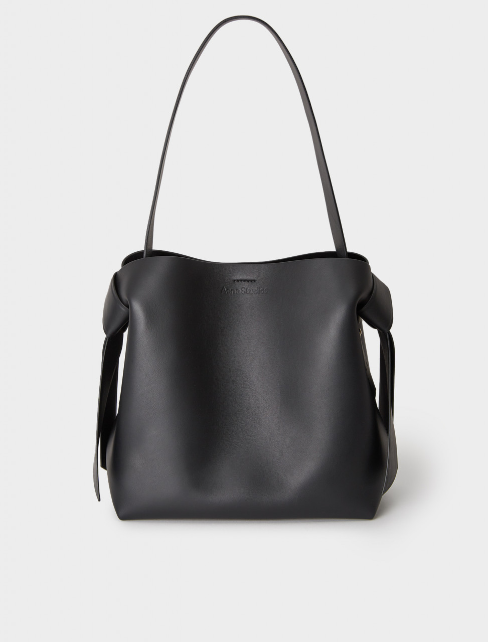 A10100-900 ACNE STUDIOS MEDIUM LEATHER HANDBAG BLACK
