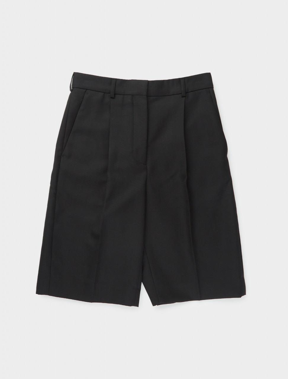 110-AE0026-900 ACNE STUDIOS PLEATED WOOL BLEND SHORT BLACK