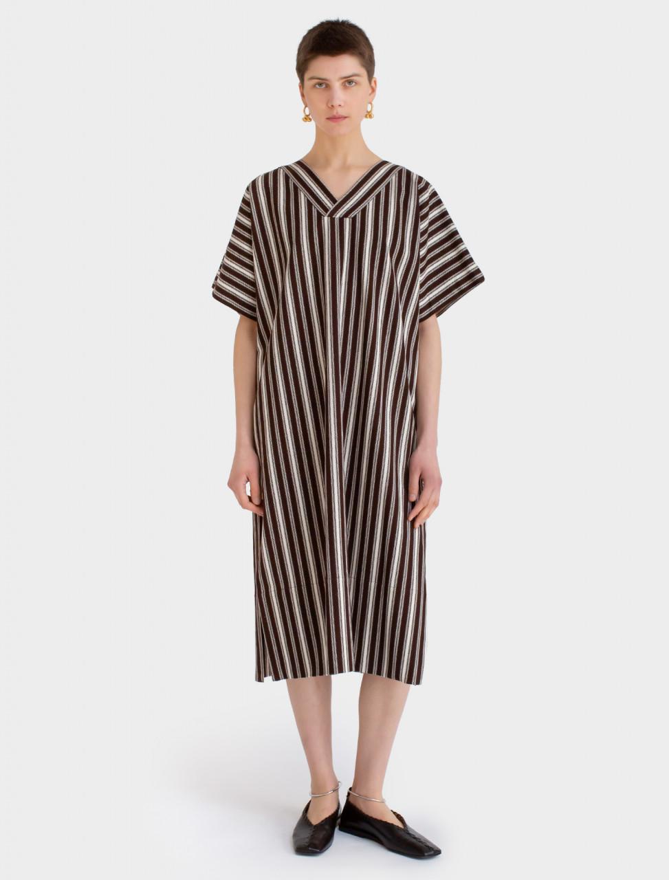 Caftan Dress in Brown