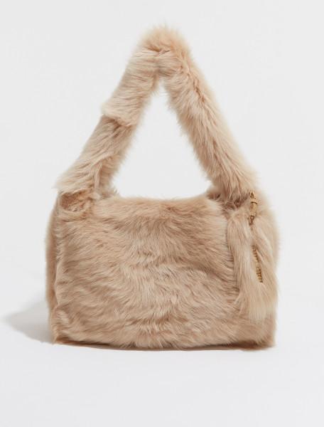 Shearling Shoulder Bag in Camel