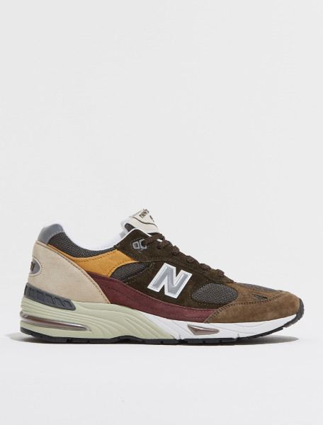 M991GYB NEW BALANCE M991 'MADE IN ENGLAND' SNEAKER BROWN & GREEN