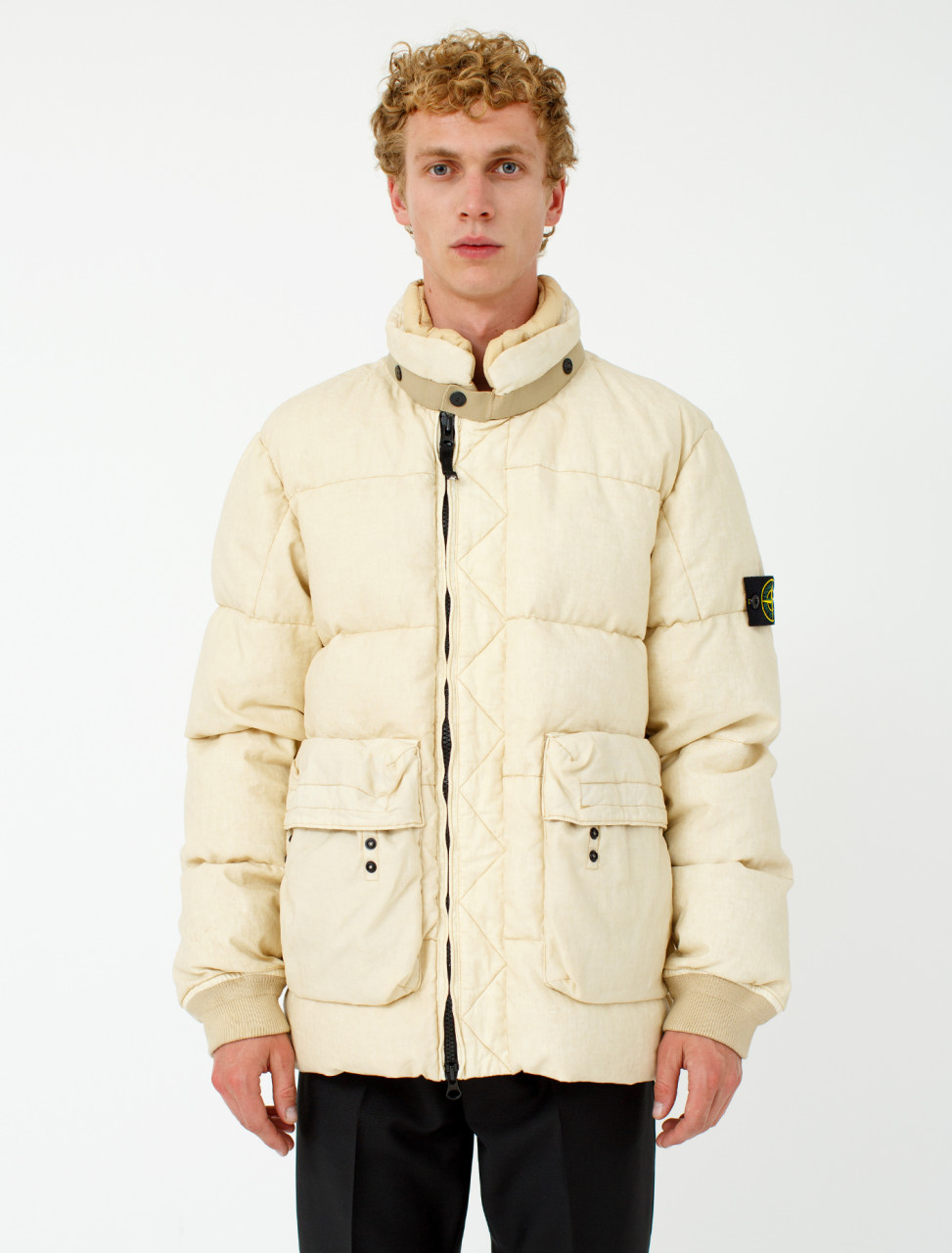 Down Jacket in Natural Beige