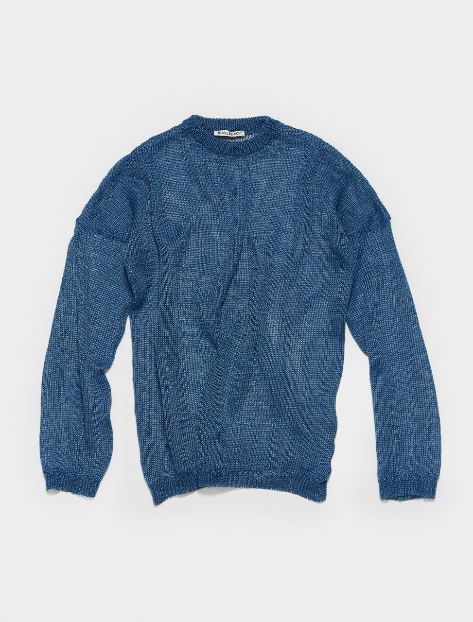M2213PE OUR LEGACY POPOVER ROUNDNECK IN ELECTRIC BLUE
