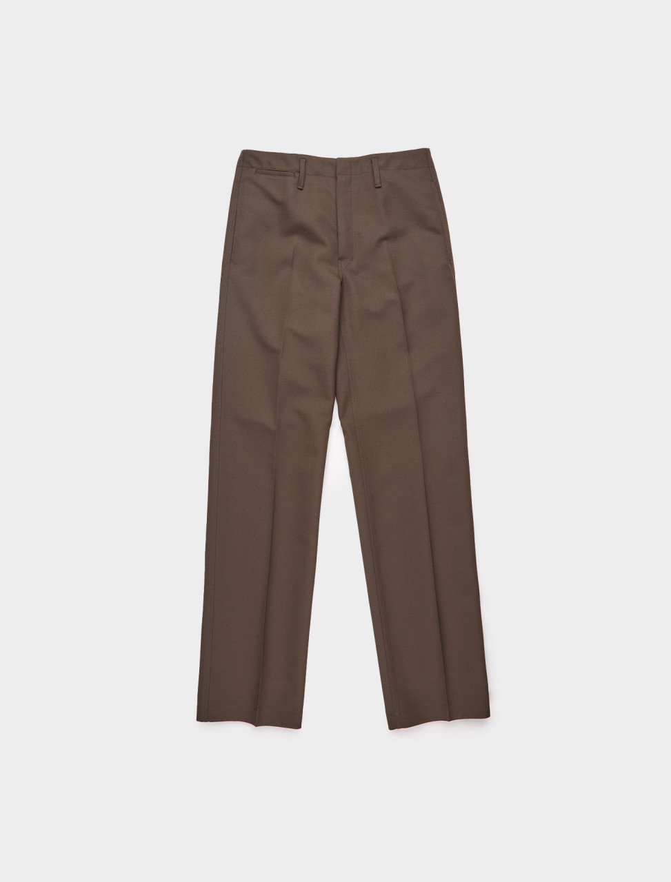218-M-203-PA158-LF483-487 LEMAIRE STRAIGHT LEG TROUSER DARK BROWN