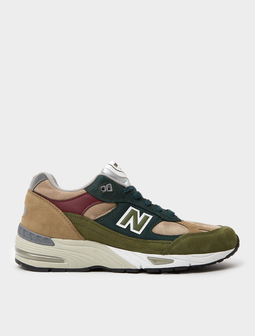 821251-60-11 NEW BALANCE 991 GREEN BROWN OLIVE