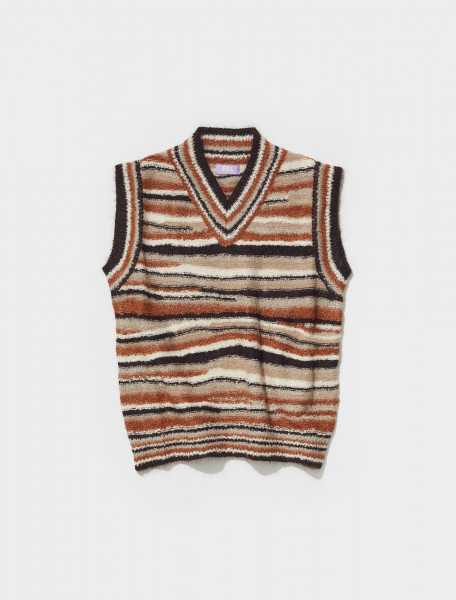 ERL03N004_1 ERL KNITTED VEST IN BROWN