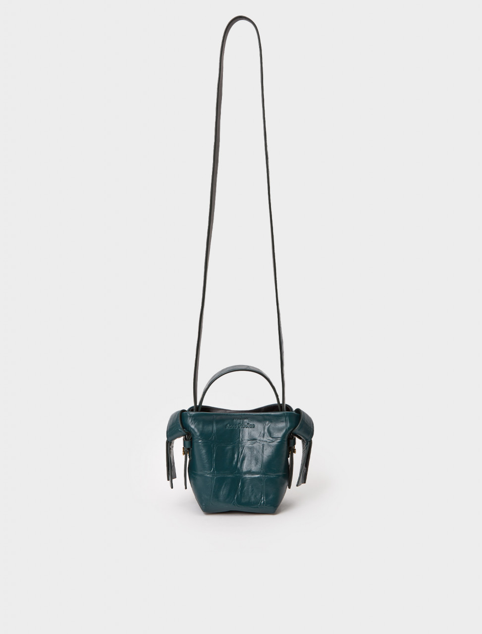 A10137-AB4 ACNE STUDIOS MICRO CROCODILE HANDBAG EMERALD GREEN