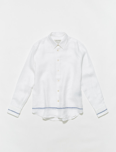 102-700-011 A KIND OF GUISE FLORES SHIRT WHITE TAVERNA