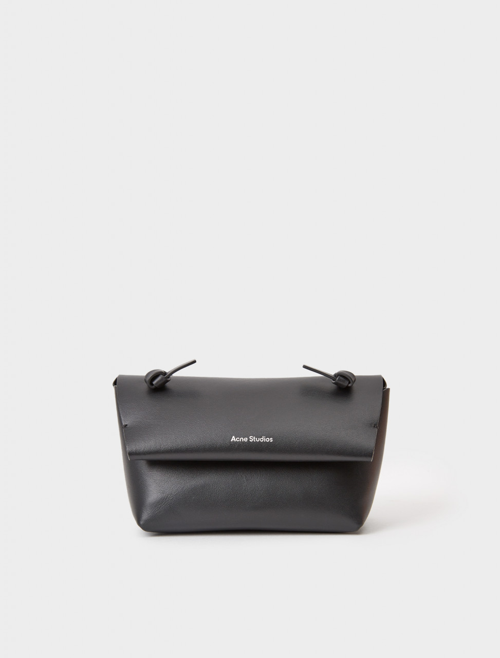 CG0151-900 ACNE STUDIOS KNOTTED STRAP PURSE BLACK