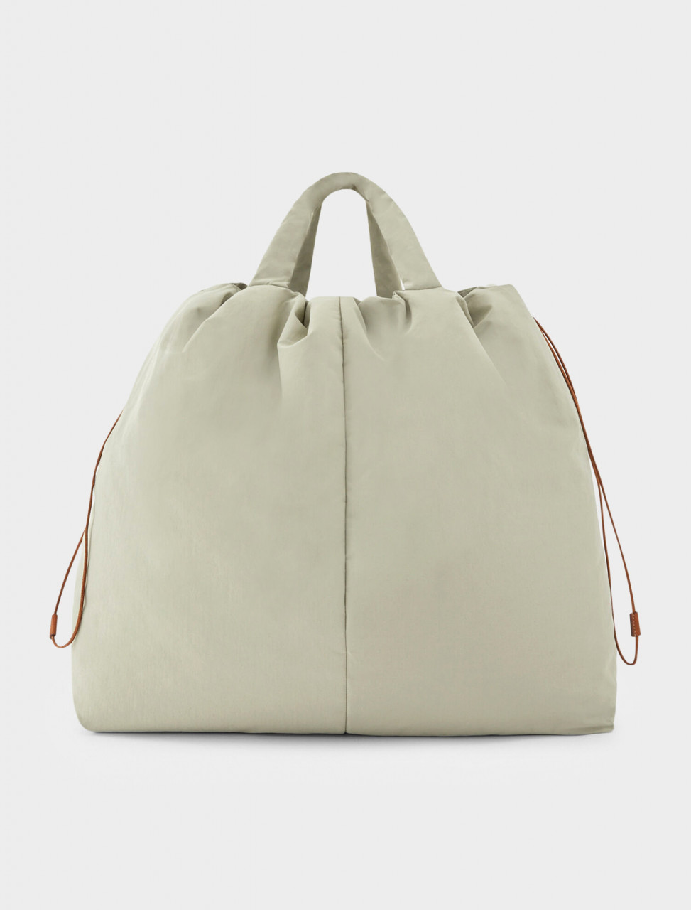 130-JPPR853009-WRB30267-330 JIL SANDER PADDED TOTE BAG WITH STRAP AND DRAWSTRING CLOSURE
