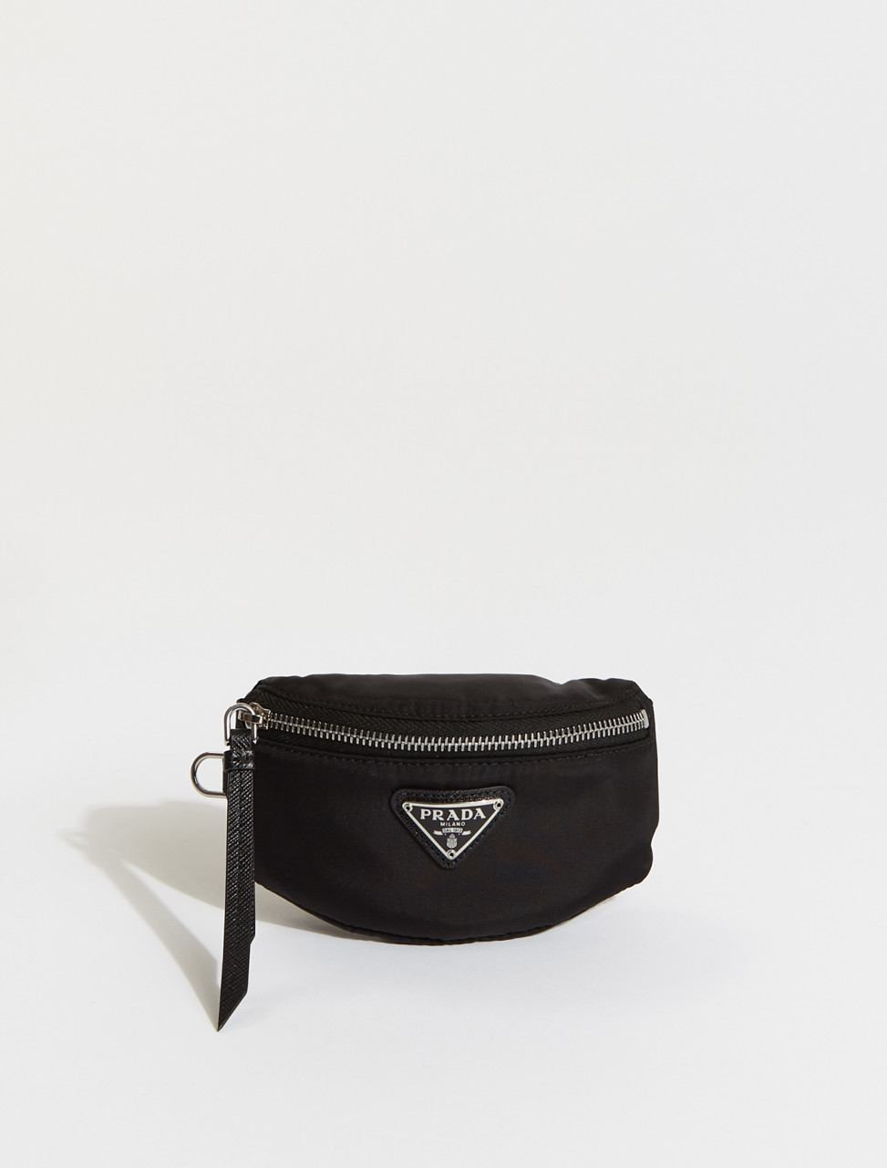 2TT116-F0002 PRADA Mini Nylon Pouch in Black