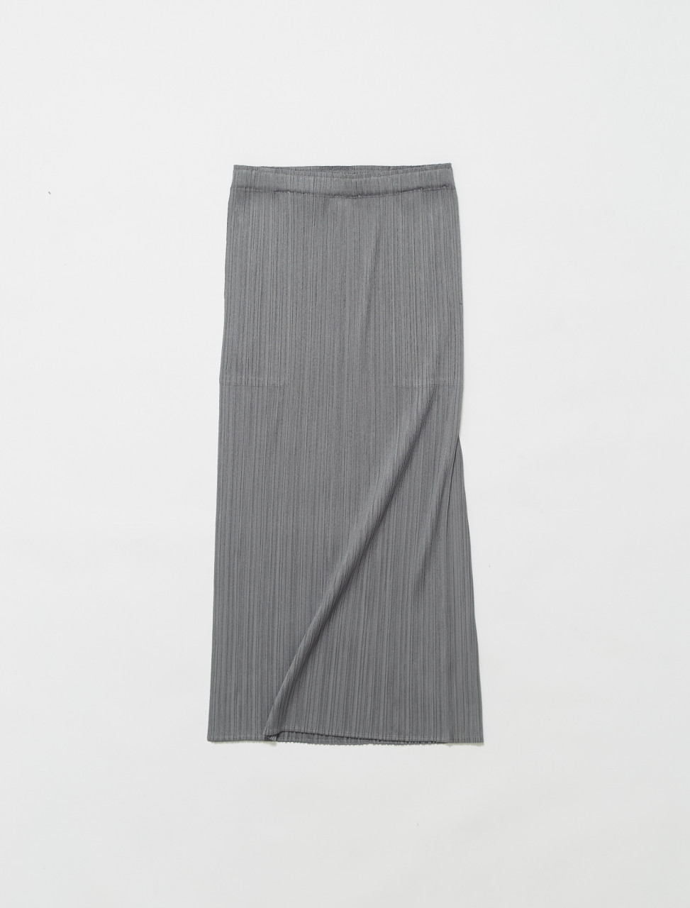 PP16JG112-12 ISSEY MIYAKE PLEATS PLEASE PLEATED SKIRT GREY
