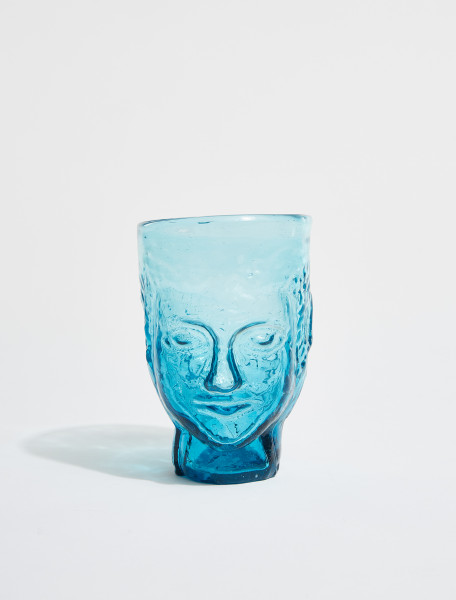 87DTURQUOISE LA SOUFFLERIE TETE GLASS IN TURQUOISE