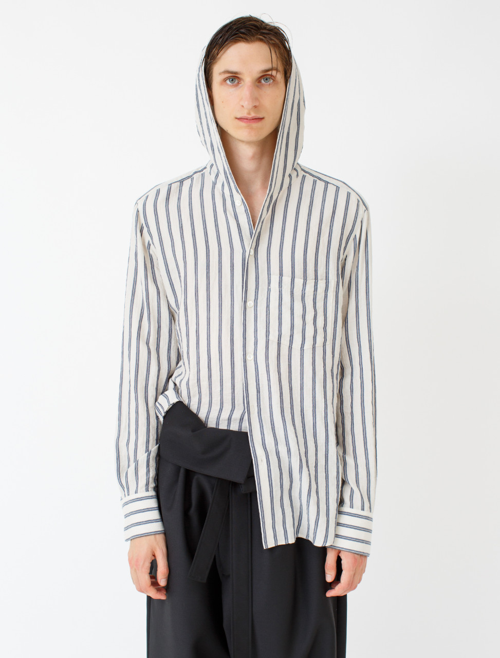 Hooded Stripe Shirt