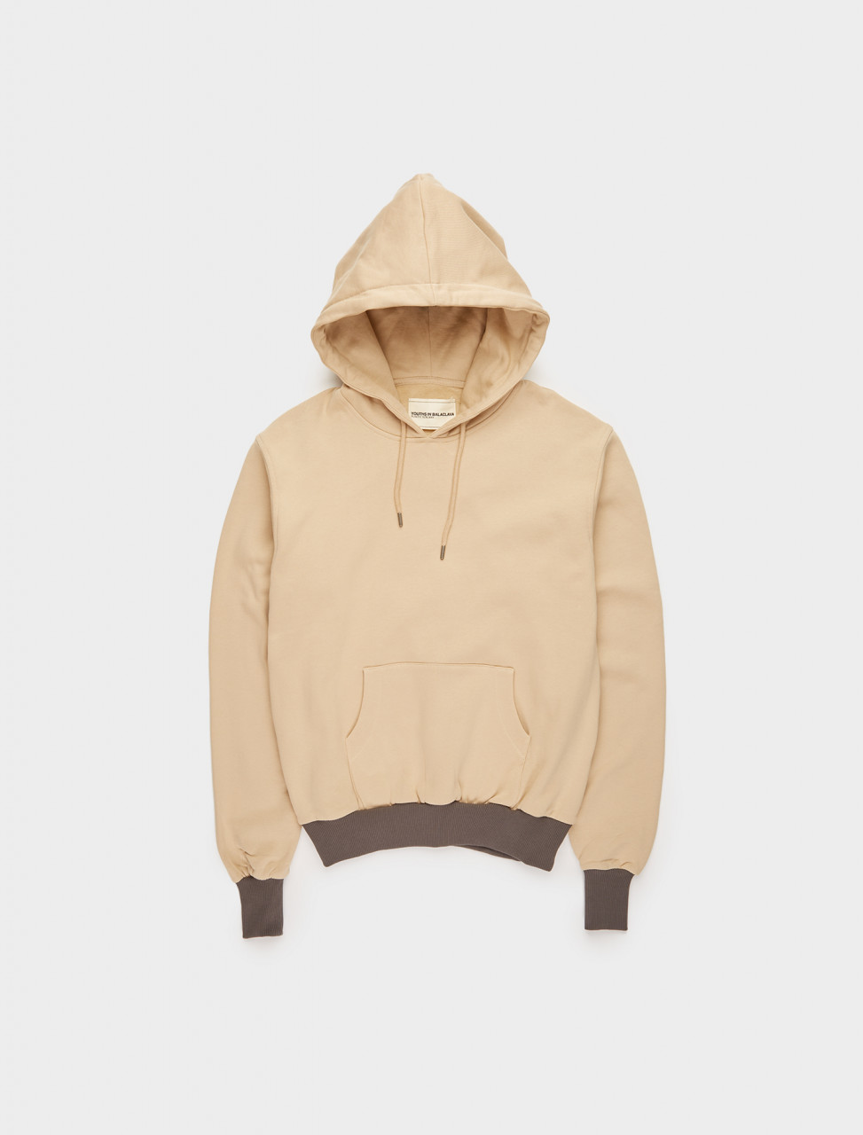 328-YOU02T018-03 YOUTHS IN BALACLAVA Y-SHAPE YOKE HOODIE IN CREAM