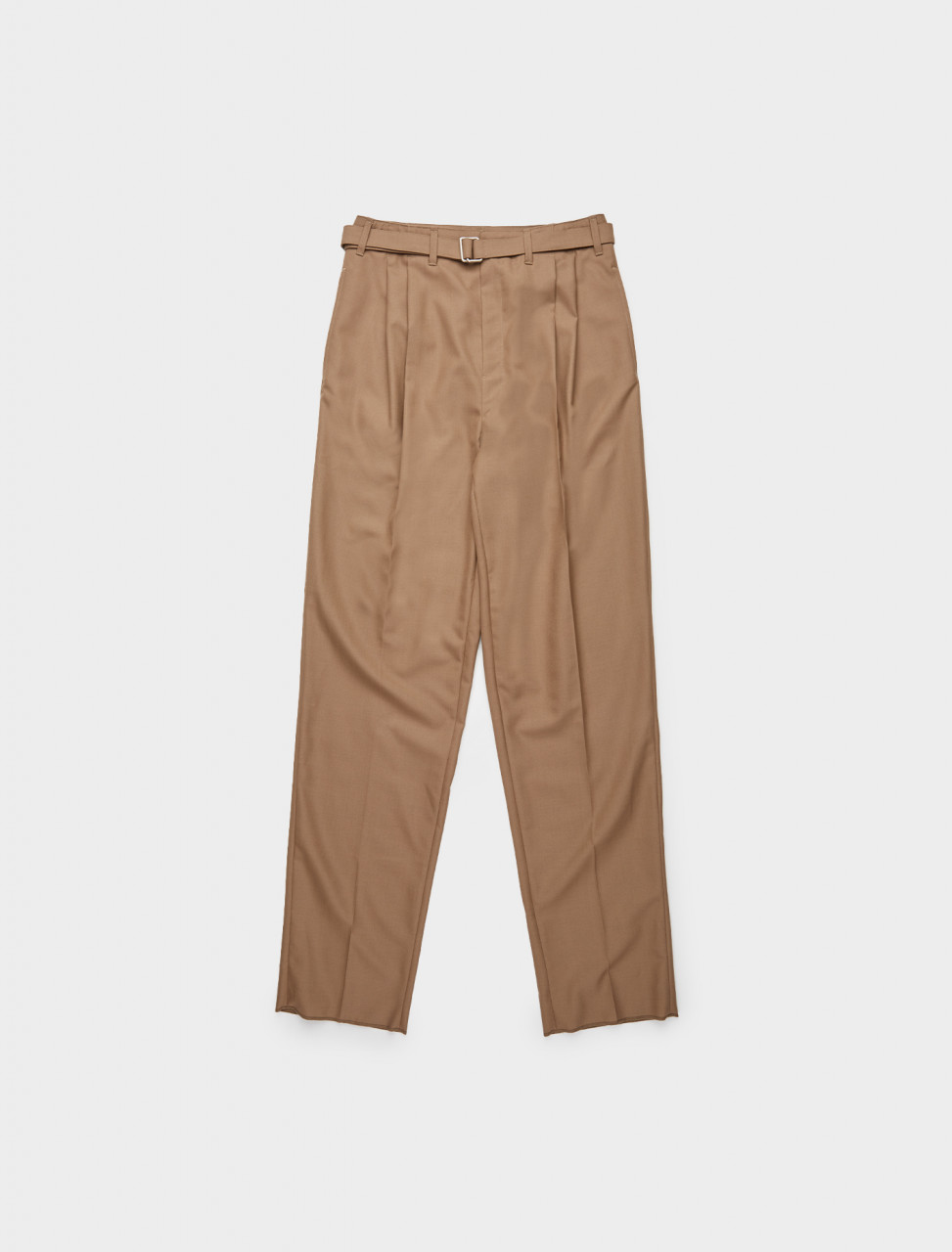 218-M-203-PA151-LF414-409 LEMAIRE BELTED PLEAT PANTS CUB BROWN