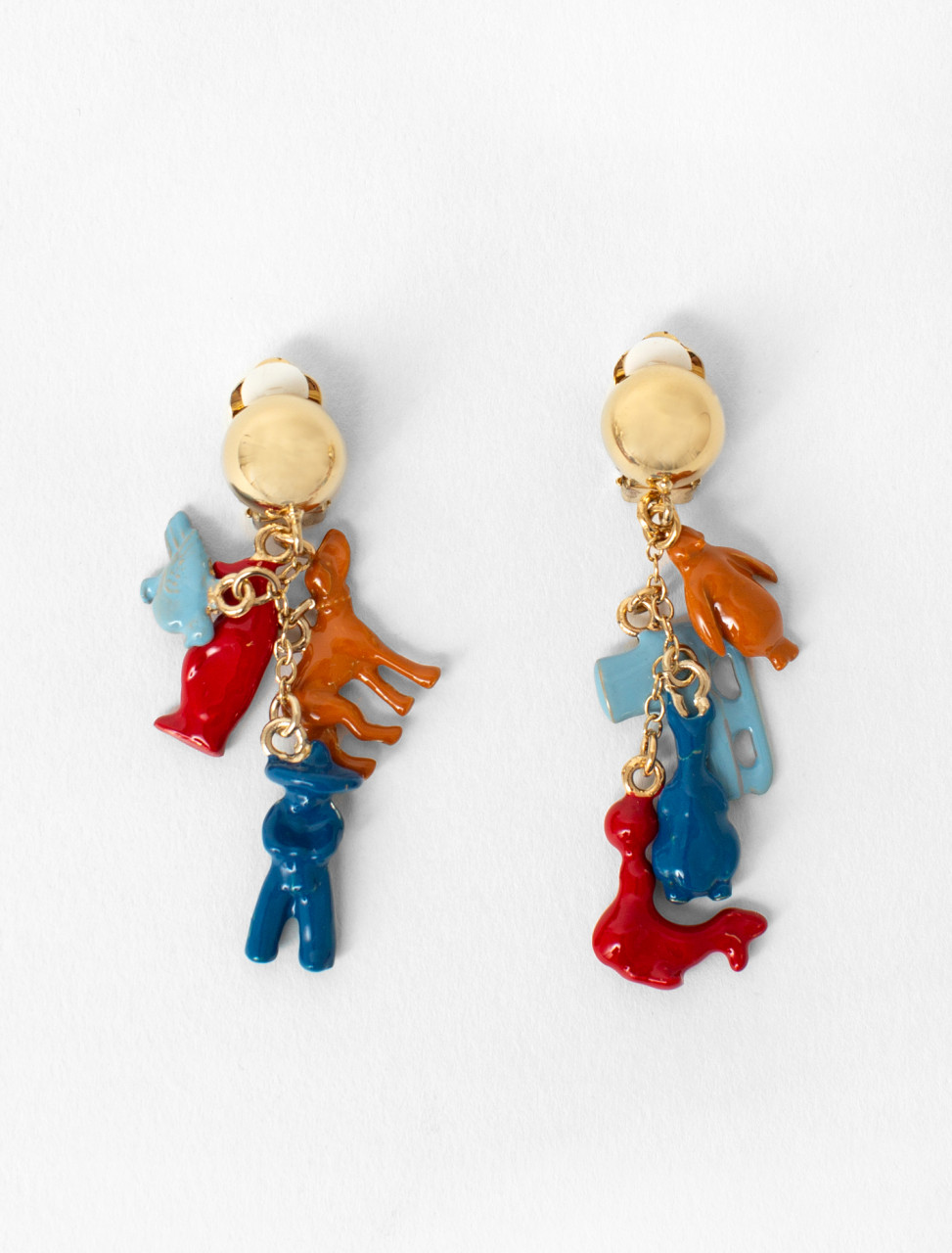 Enamel Charm Earrings