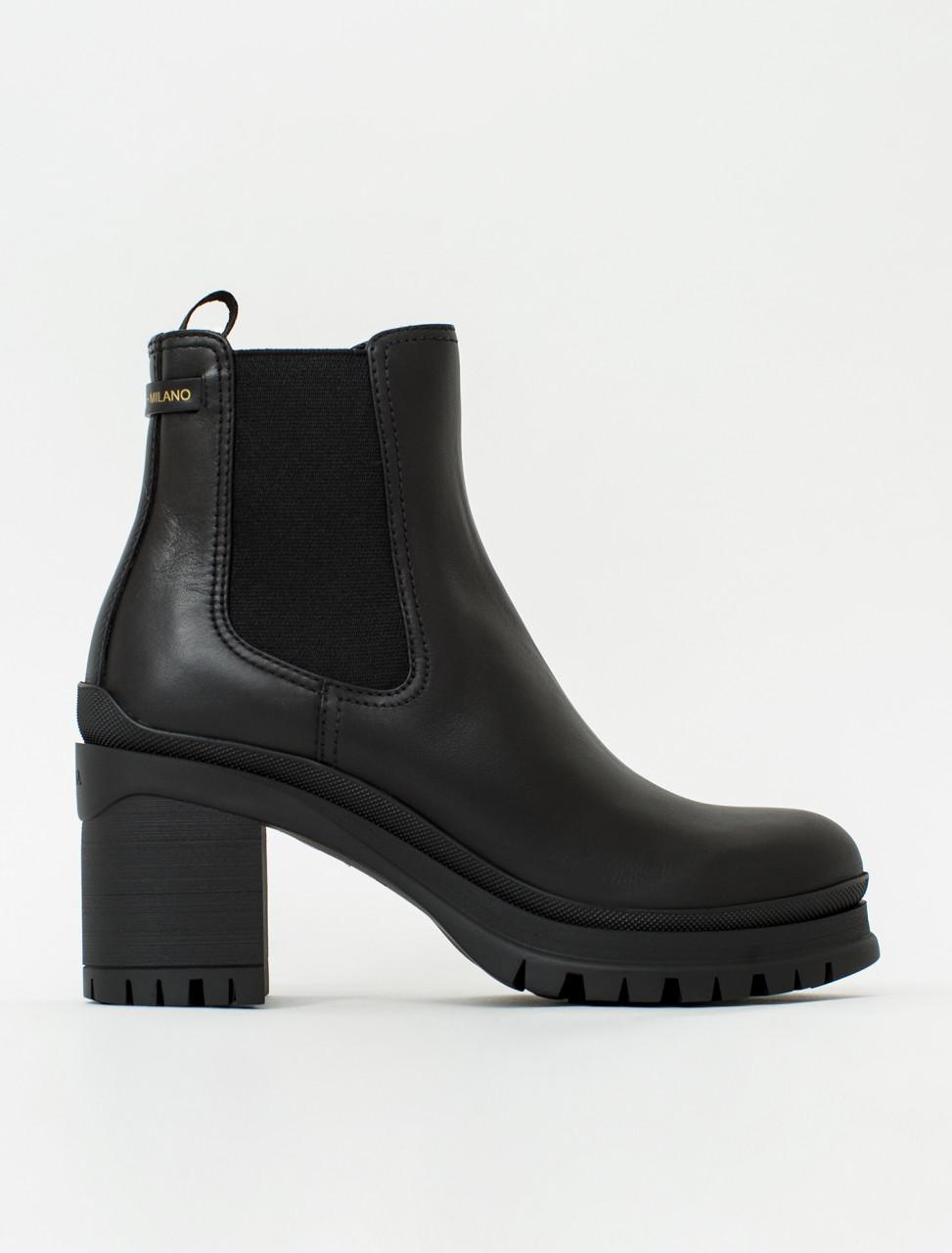 Rubber Heel Platform Boot