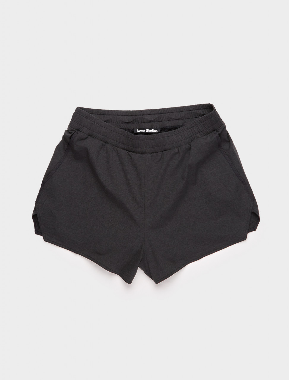 CE0009-900 ACNE STUDIOS RUNNING SHORTS BLACK