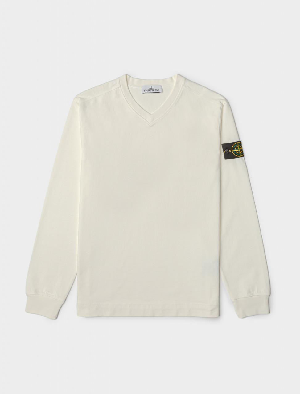 Cotton Sweatshirt in Ivory