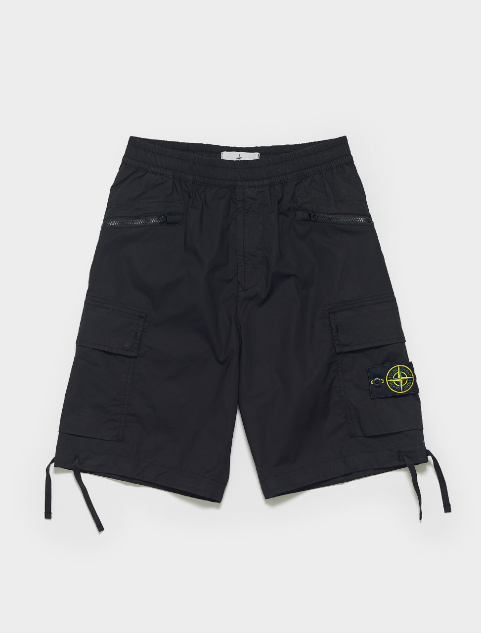 MO7415L0403-V0029 STONE ISLAND BERMUDA SHORTS IN BLACK