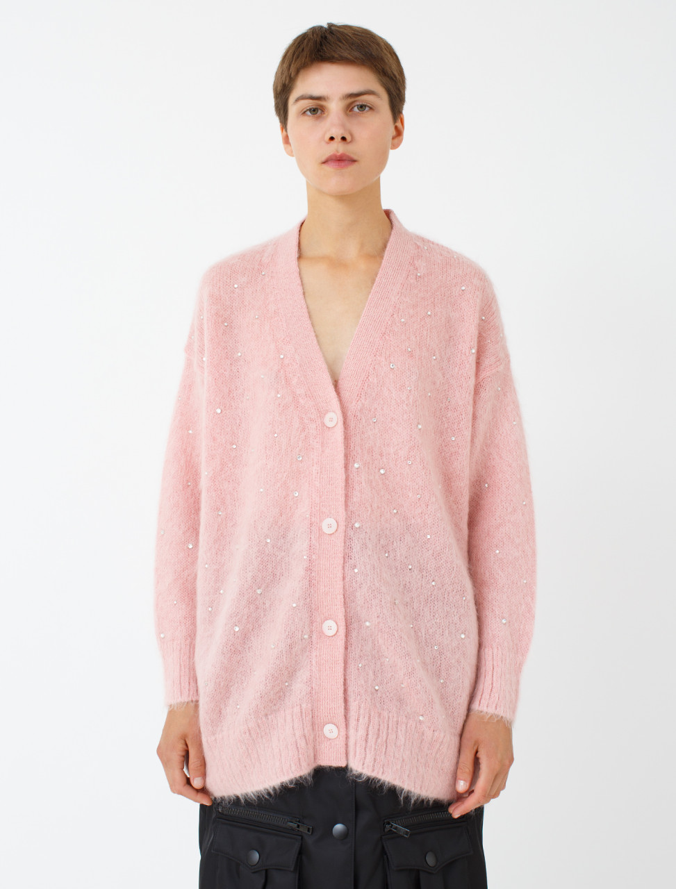 Embellished Mohair Cardigan
