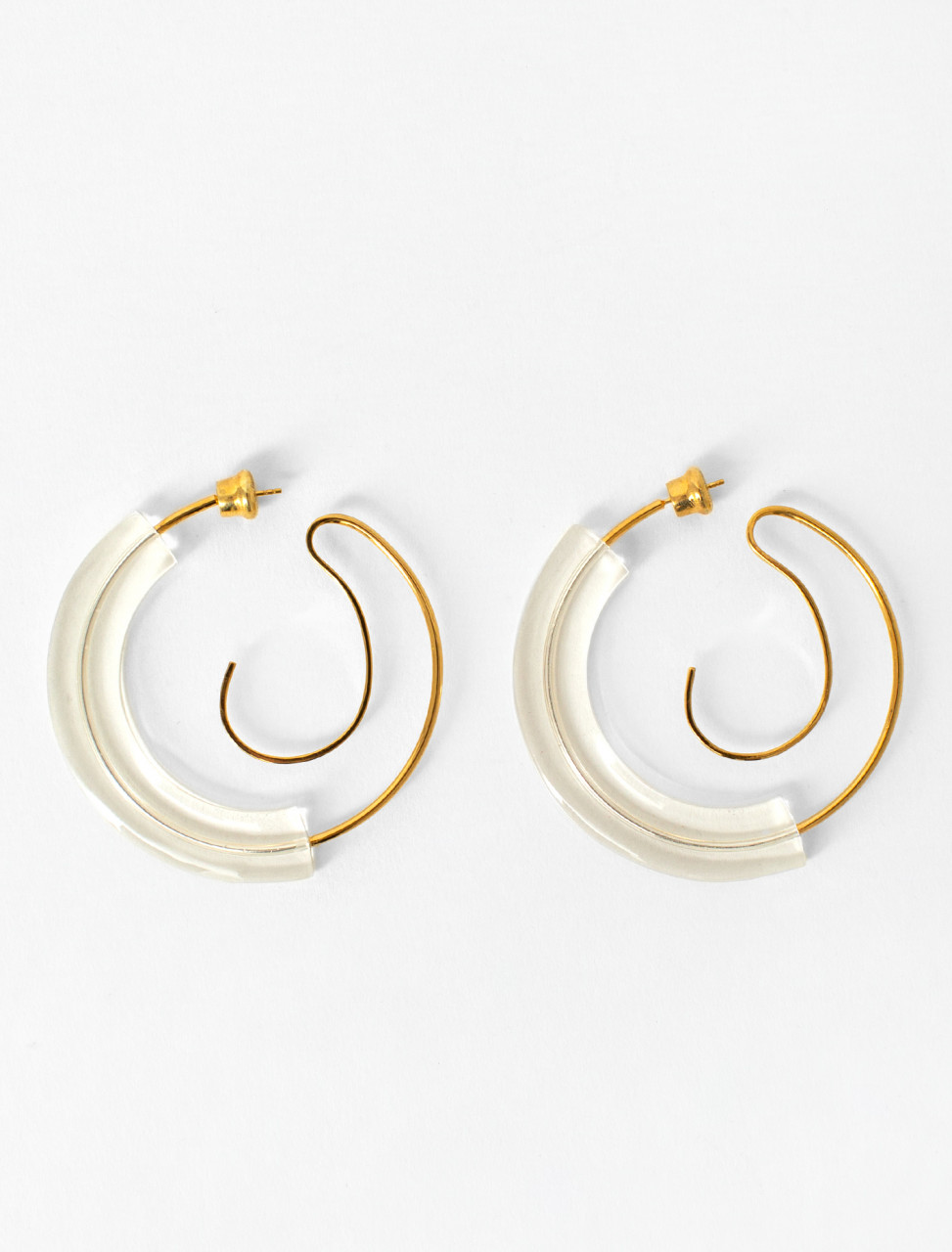Upside Down Resin Hoop Earrings