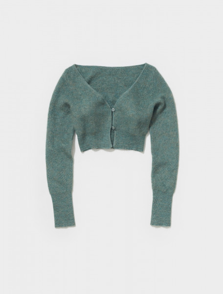213KN23 213 236560 JACQUEMUS LE CARDIGAN ALZOU IN GREEN