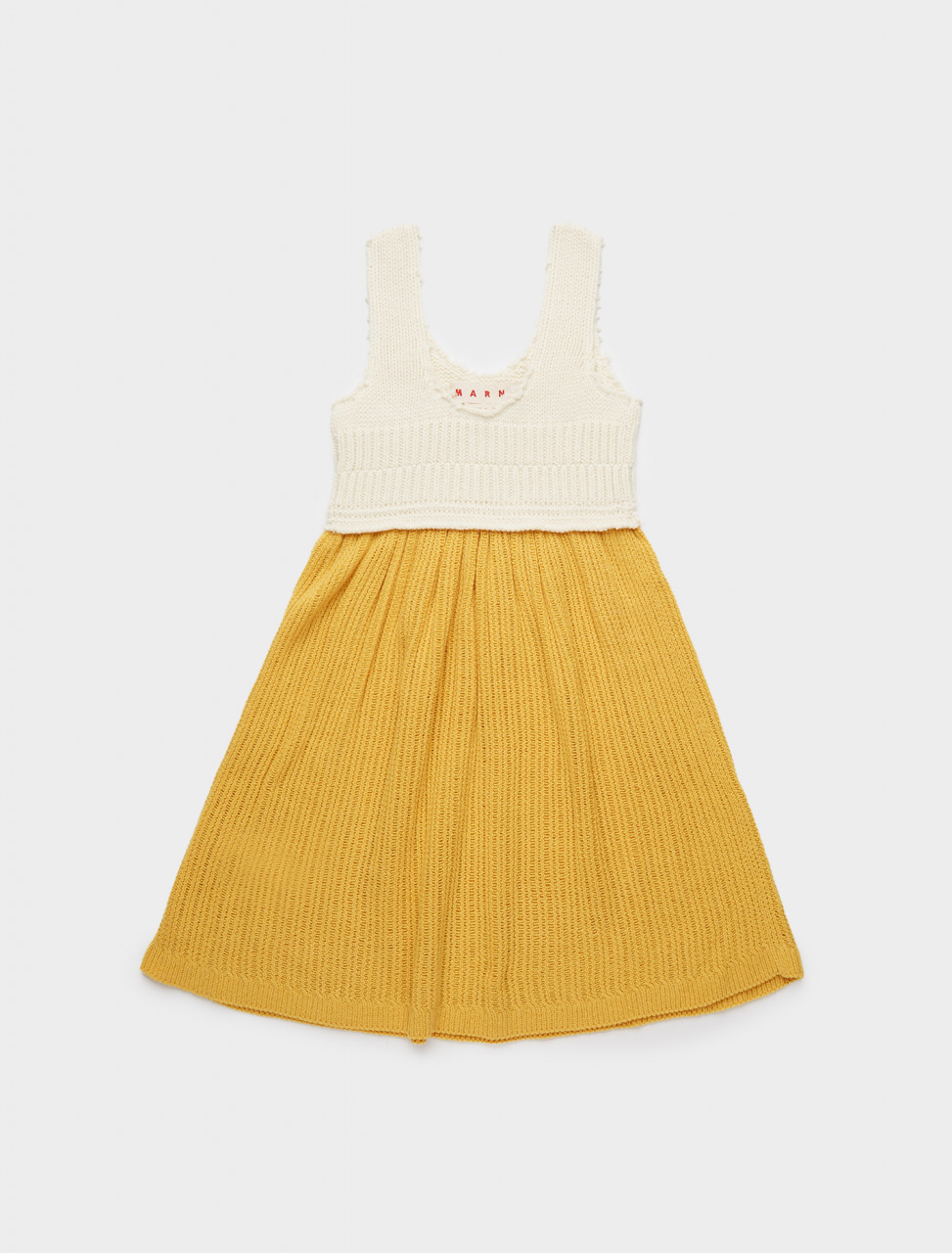 137-ABMD0082Q0-FZ405-BIY56 MARNI SLEEVELESS KNITTED DRESS MAIZE