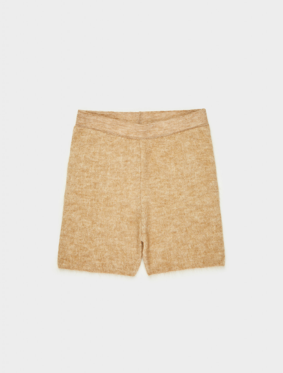 203KN55-203-214831 JACQUEMUS LE SHORT ARANCIA IN CAMEL STRIPES FRONT