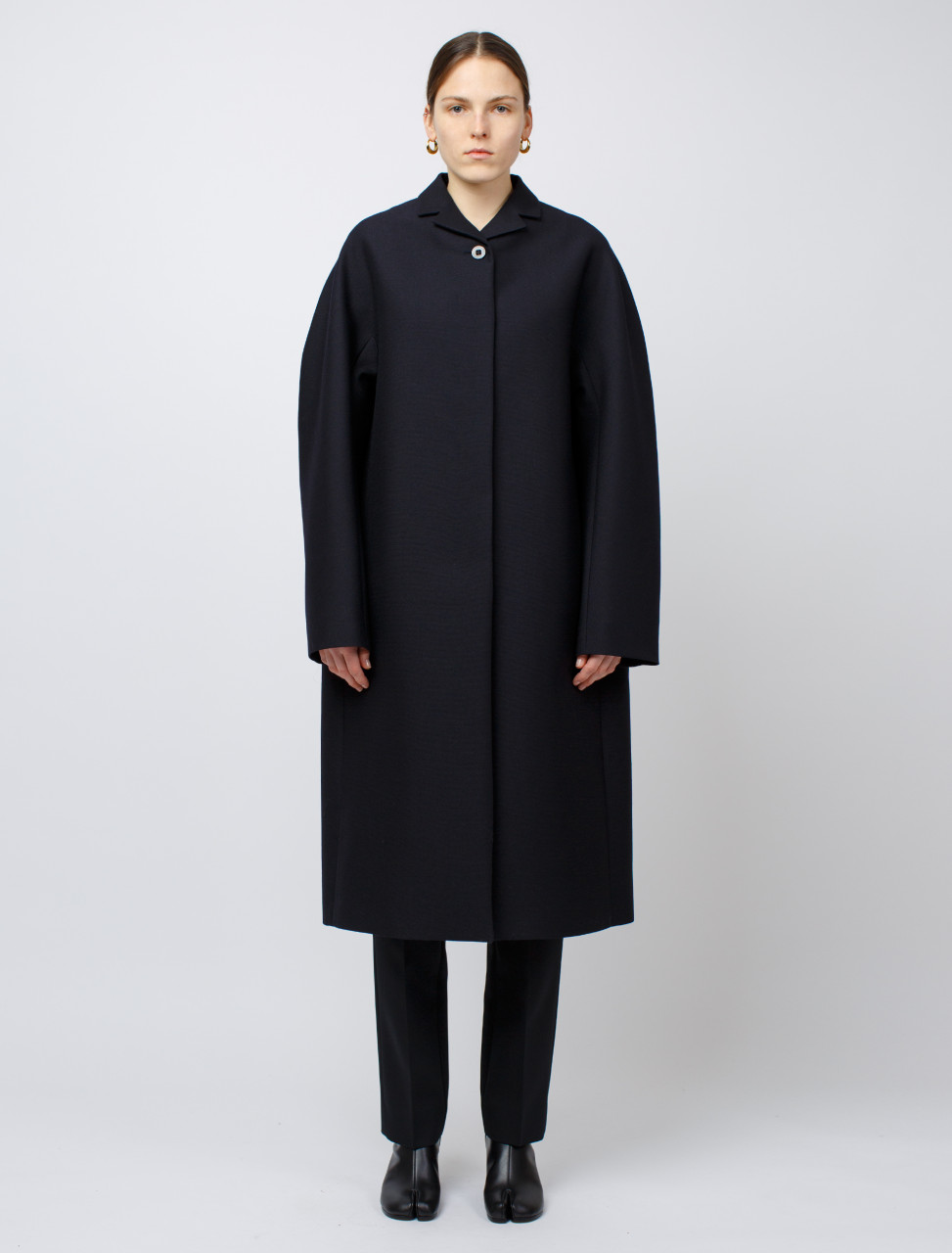 Deconstructed Coat in Dark Blue