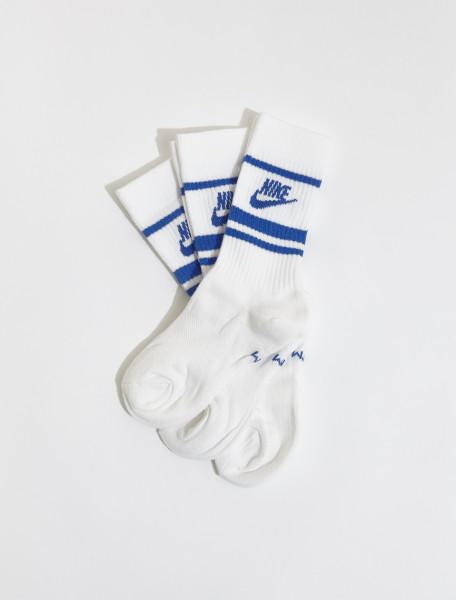 CQ0301-105 NIKE LOGO BLUE SOCKS WHITE