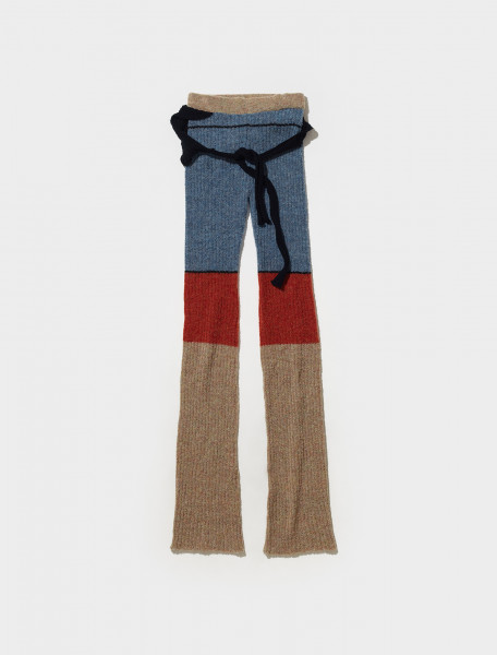 700702_RED_SEA OTTOLINGER RIB KNIT PANTS IN RED SEA