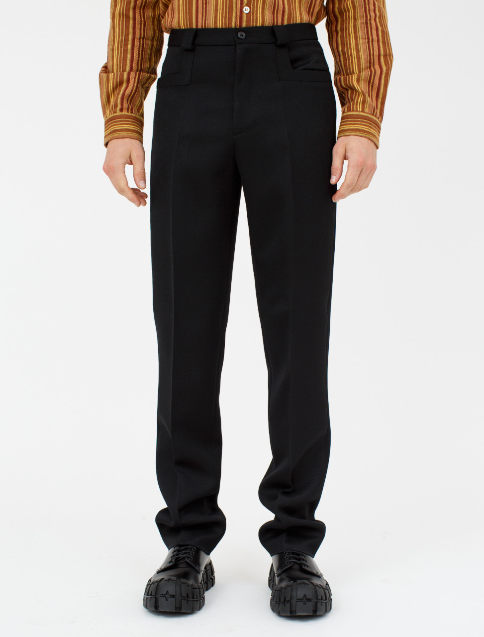 Woollen Trouser in Black