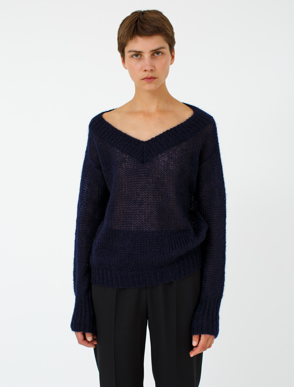 Mohair Open Knit Sweater