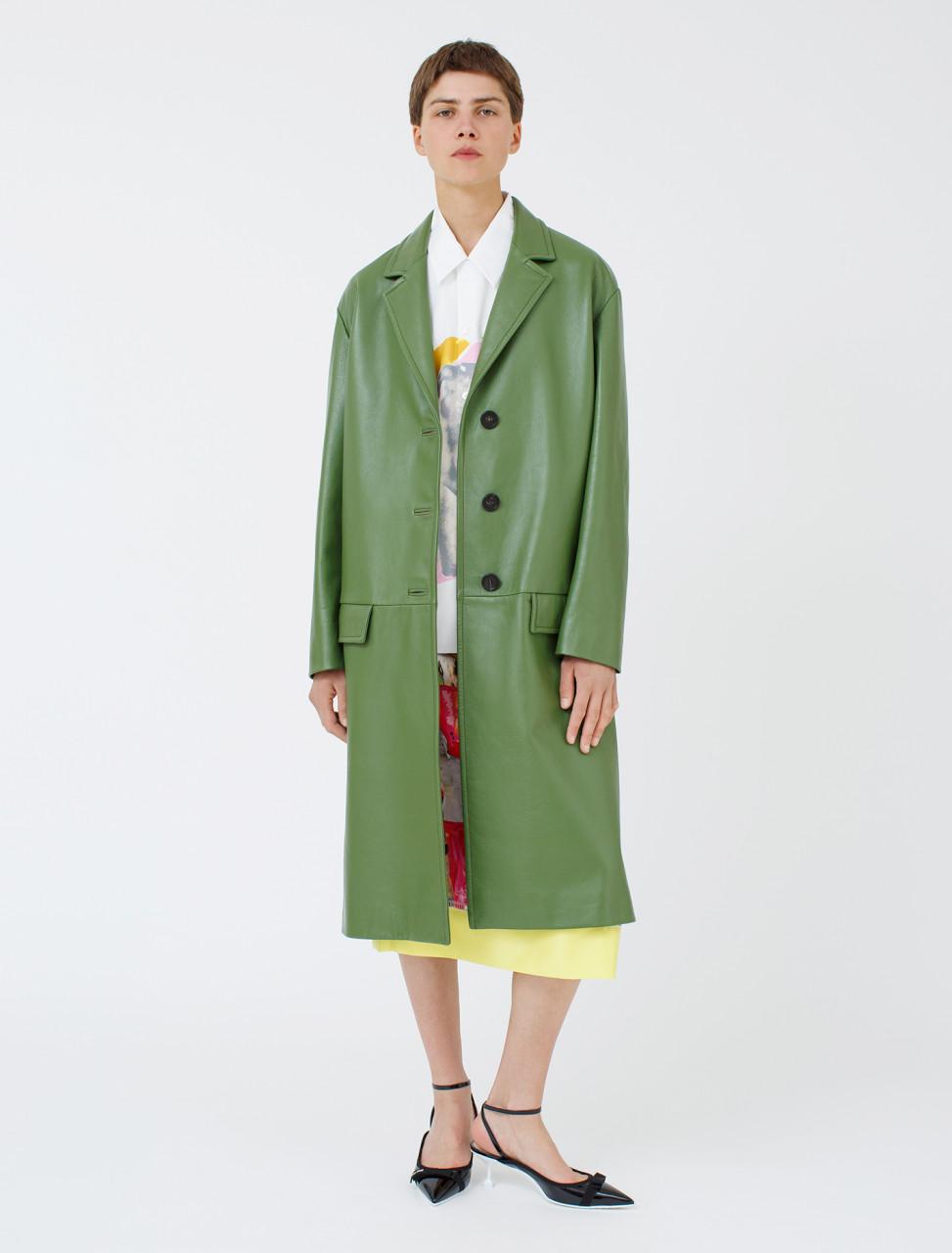 Oversized Nappa Leather Coat