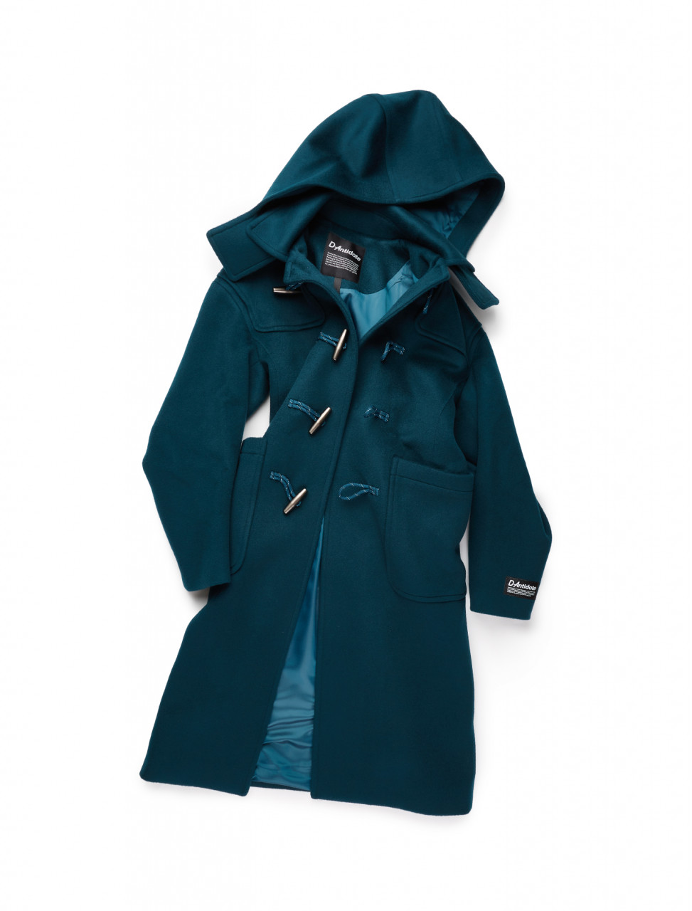 351-D20FWCT003U D-ANTIDOTE DUFFLE COAT DARK GREEN