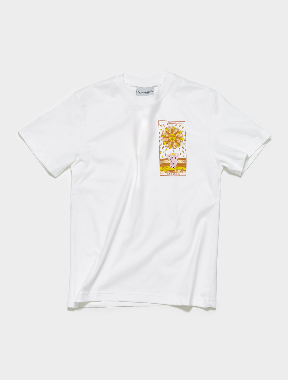 SS21TS04 CARNE BOLLENTE SUNPORN T SHIRT IN WHITE