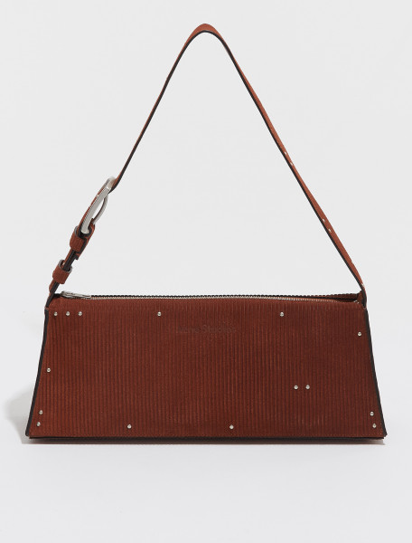A10153 BUT FN WN BAGS000171 ACNE STUDIOS SMALL HANDBAG WITH STUDS IN RUST BROWN