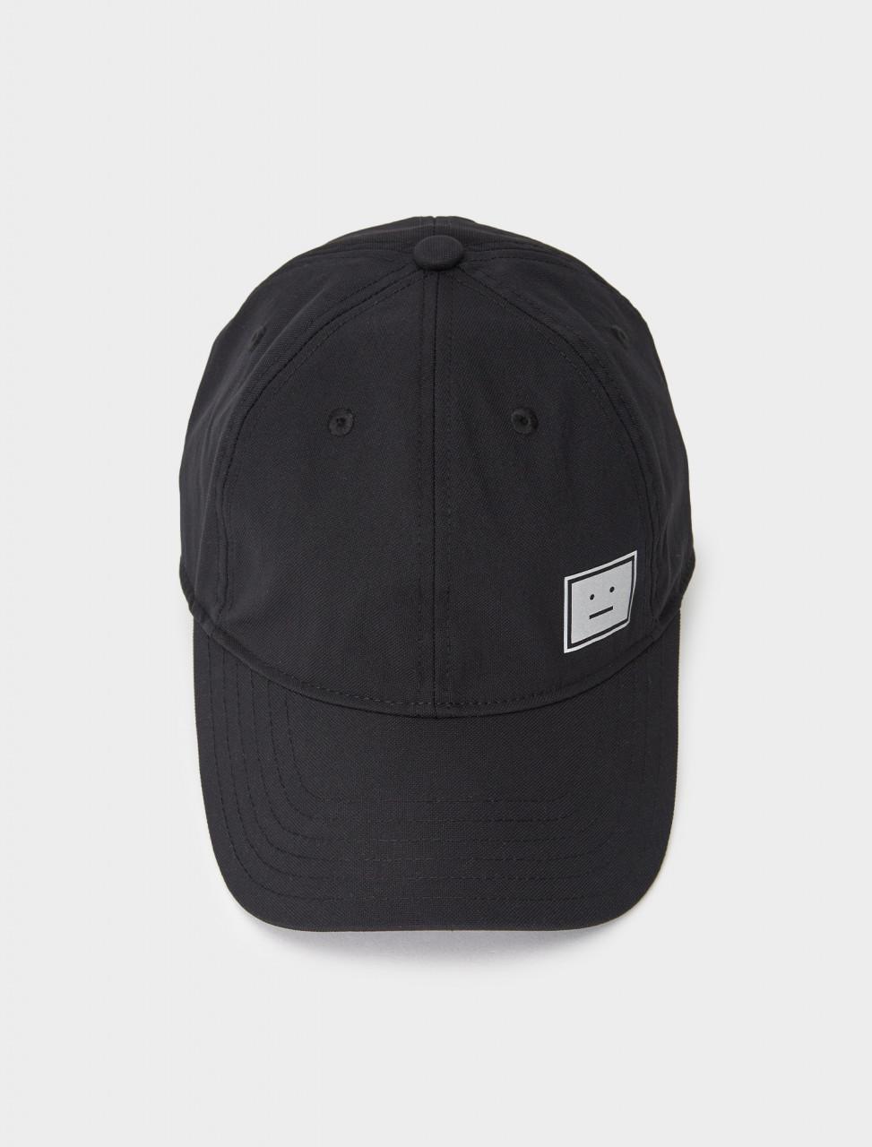 C40139-900 ACNE STUDIOS TWILL BASEBALL CAP BLACK