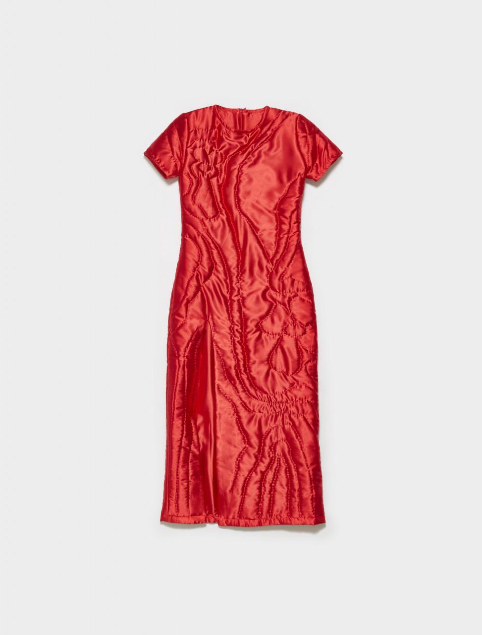 34002-004 CULT FORM YORGAN DRESS IN RED