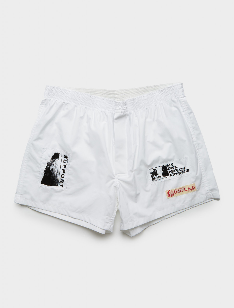 Raf Simons Boxershorts with Patches in White Front